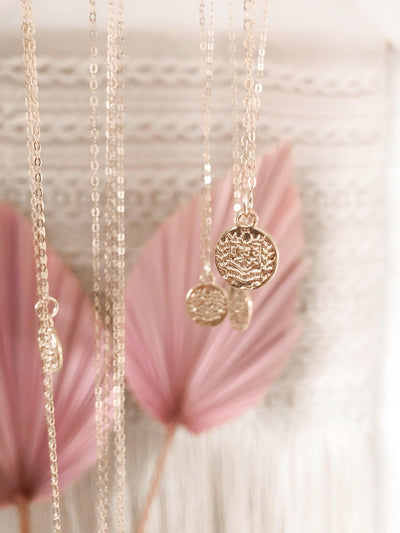 Gold Ivy Coin Necklace