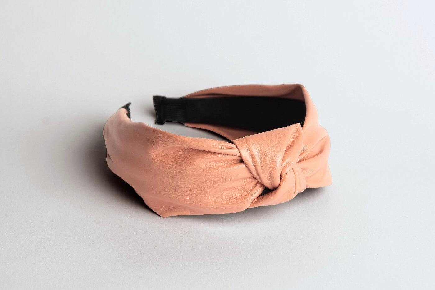 Duplantis Faux Leather Pink Headband