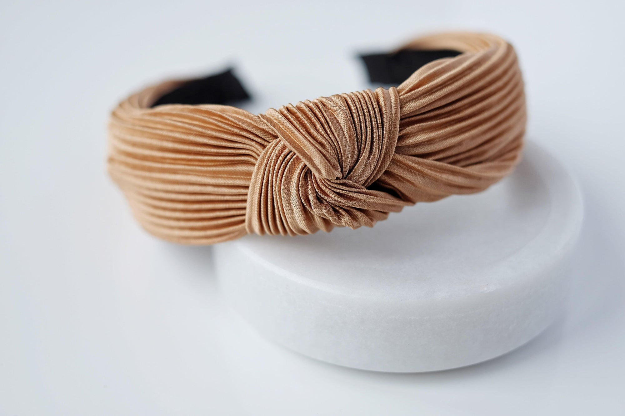 Caramel Pleated Headband