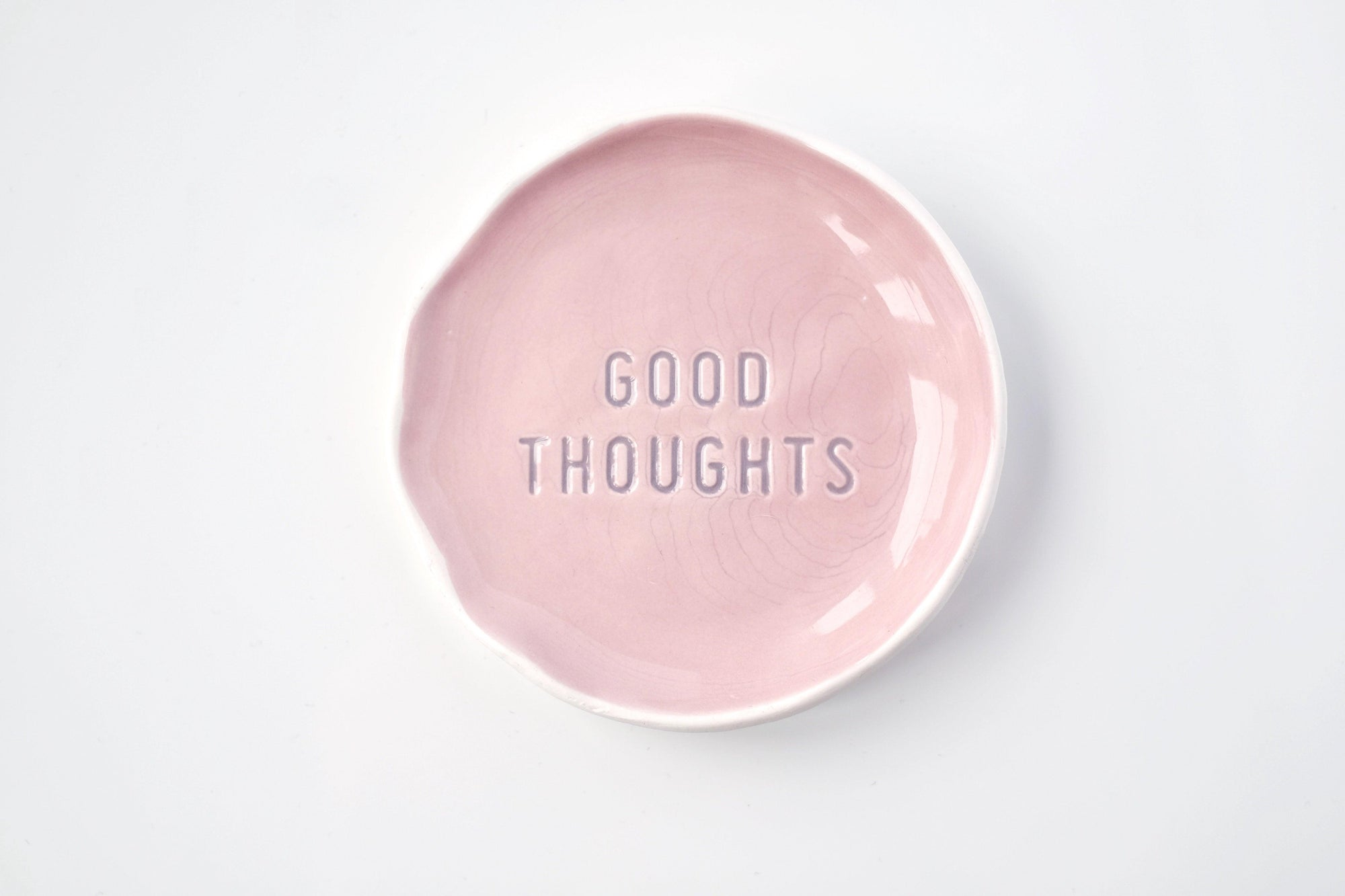 Good Thoughts Stamped Trinket Dish