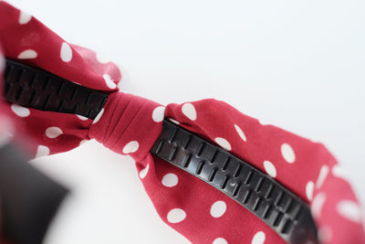 Red Polka Dot Tie Headband