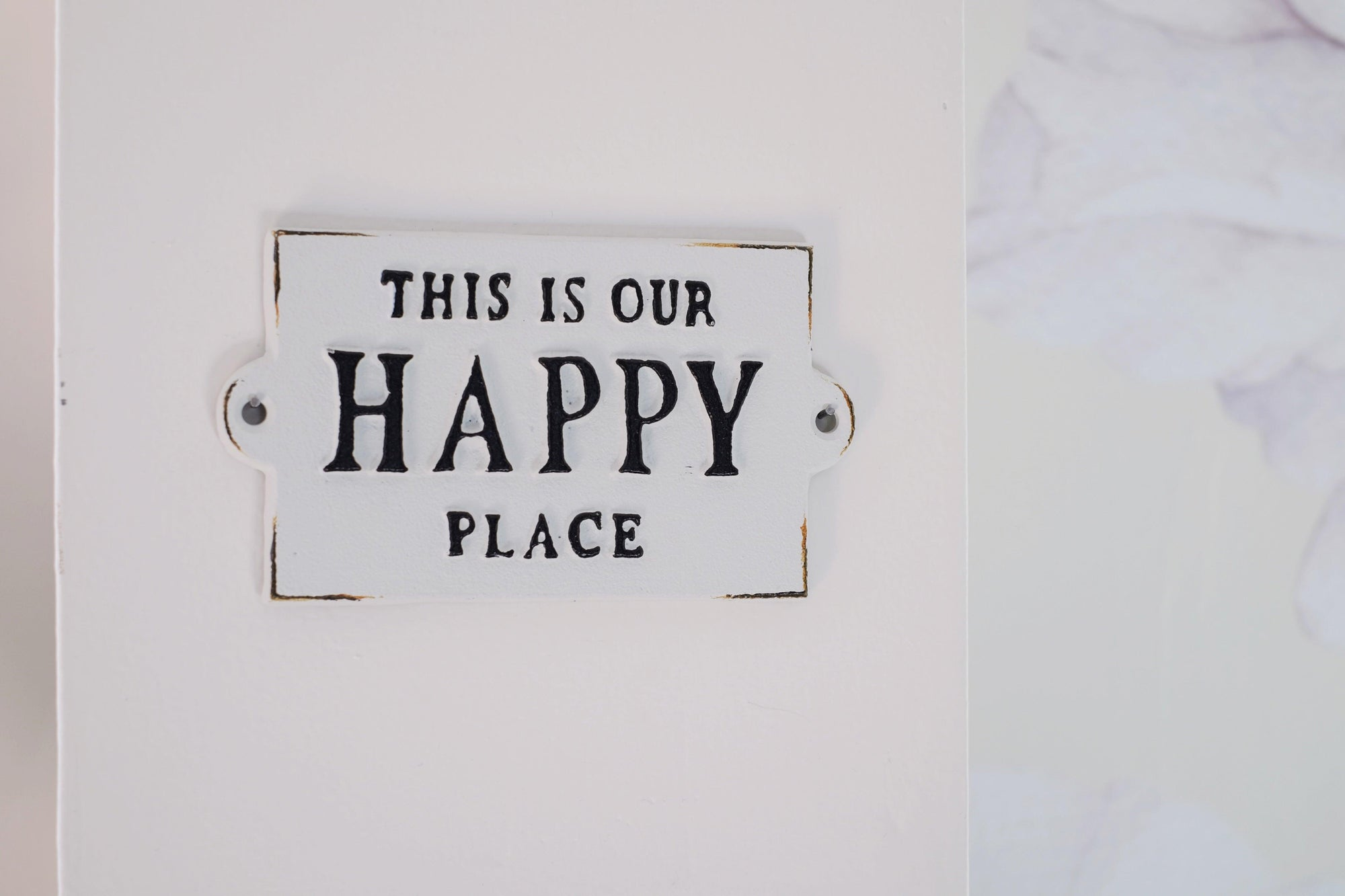 Our Happy Place Sign
