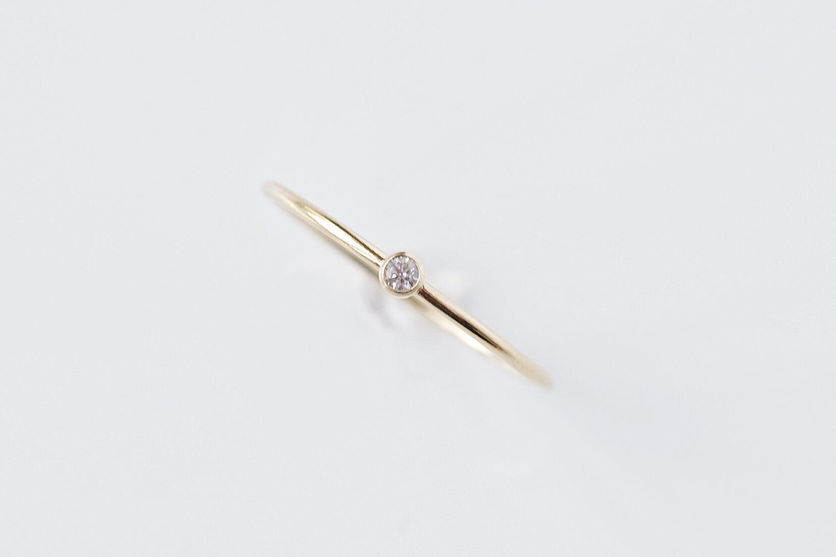 Gold Filled Crystal Ring