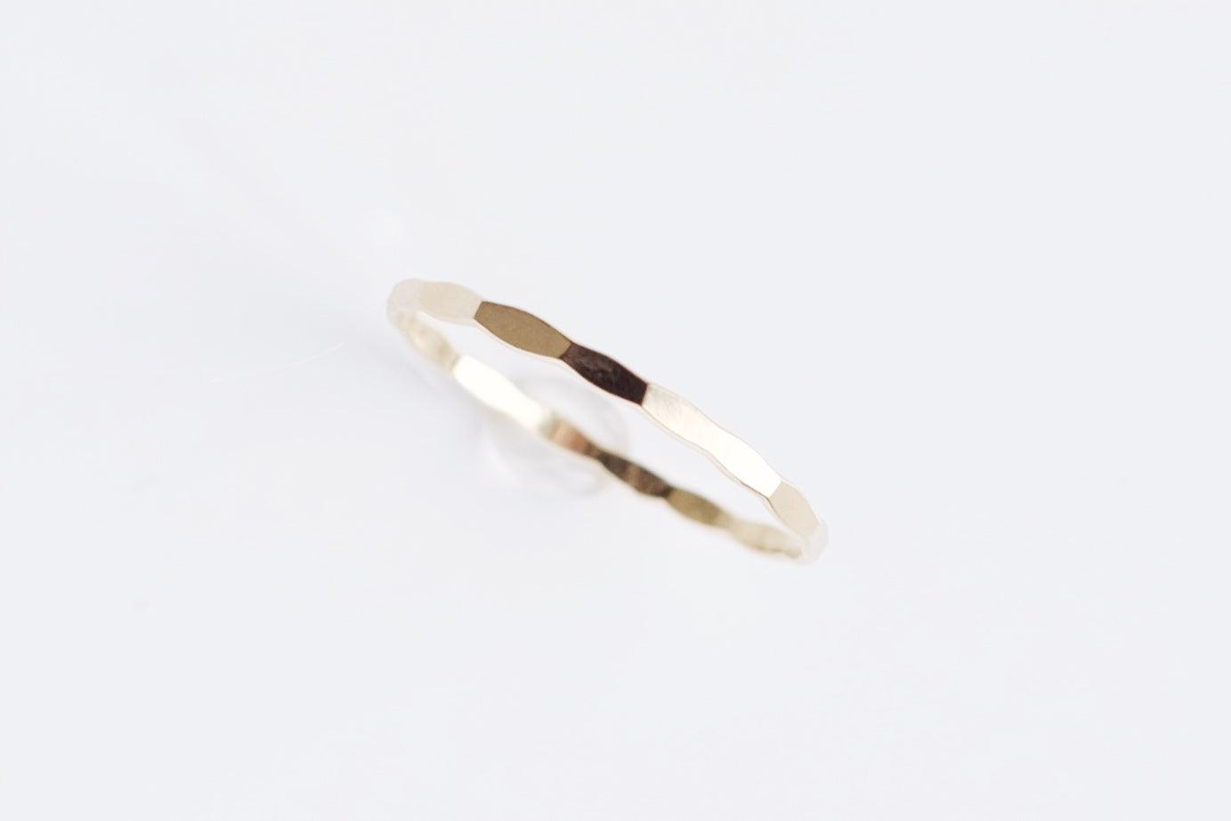 Gold Filled Hammered Ring