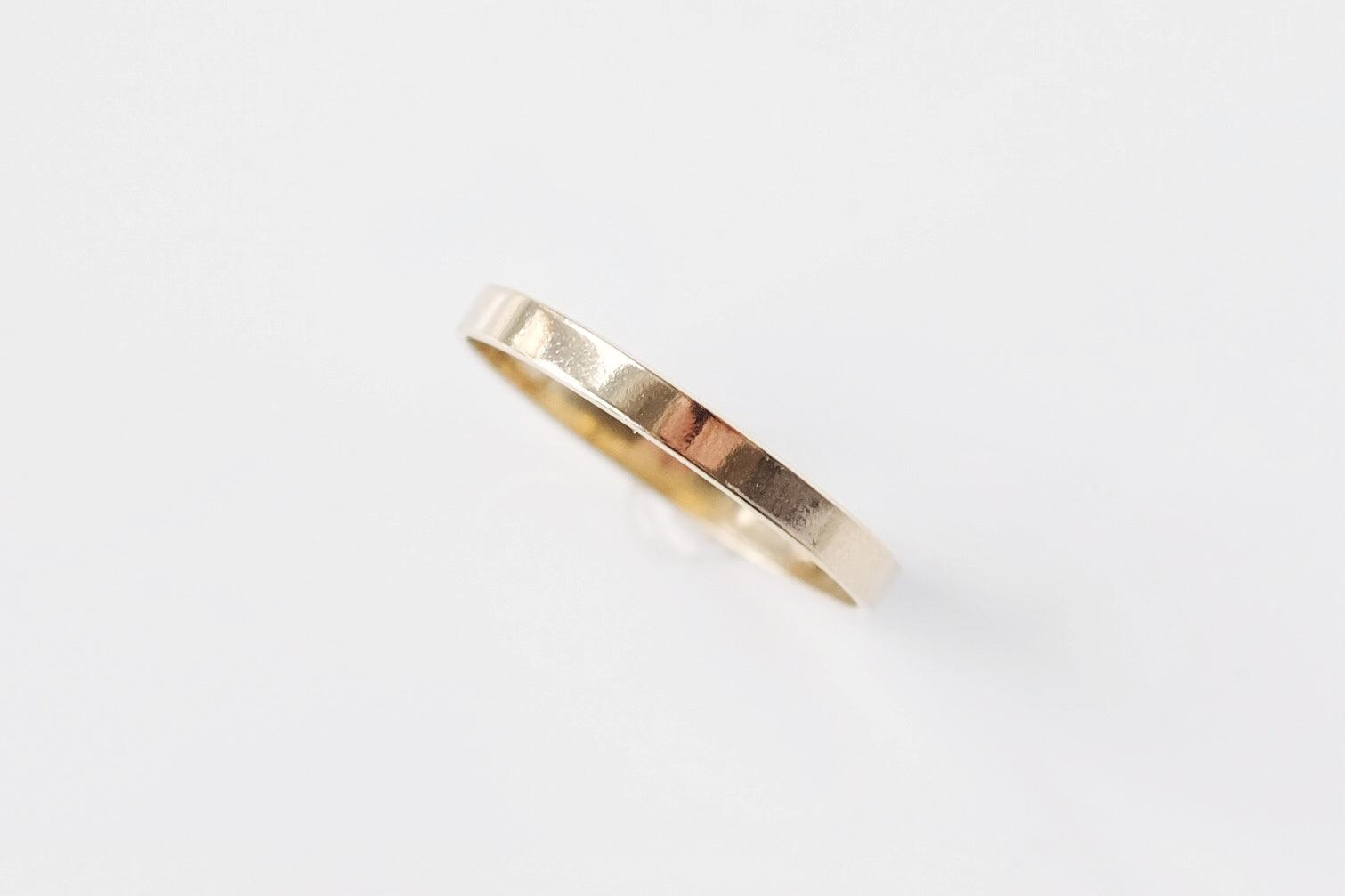 Gold Filled Wide Flat Ring