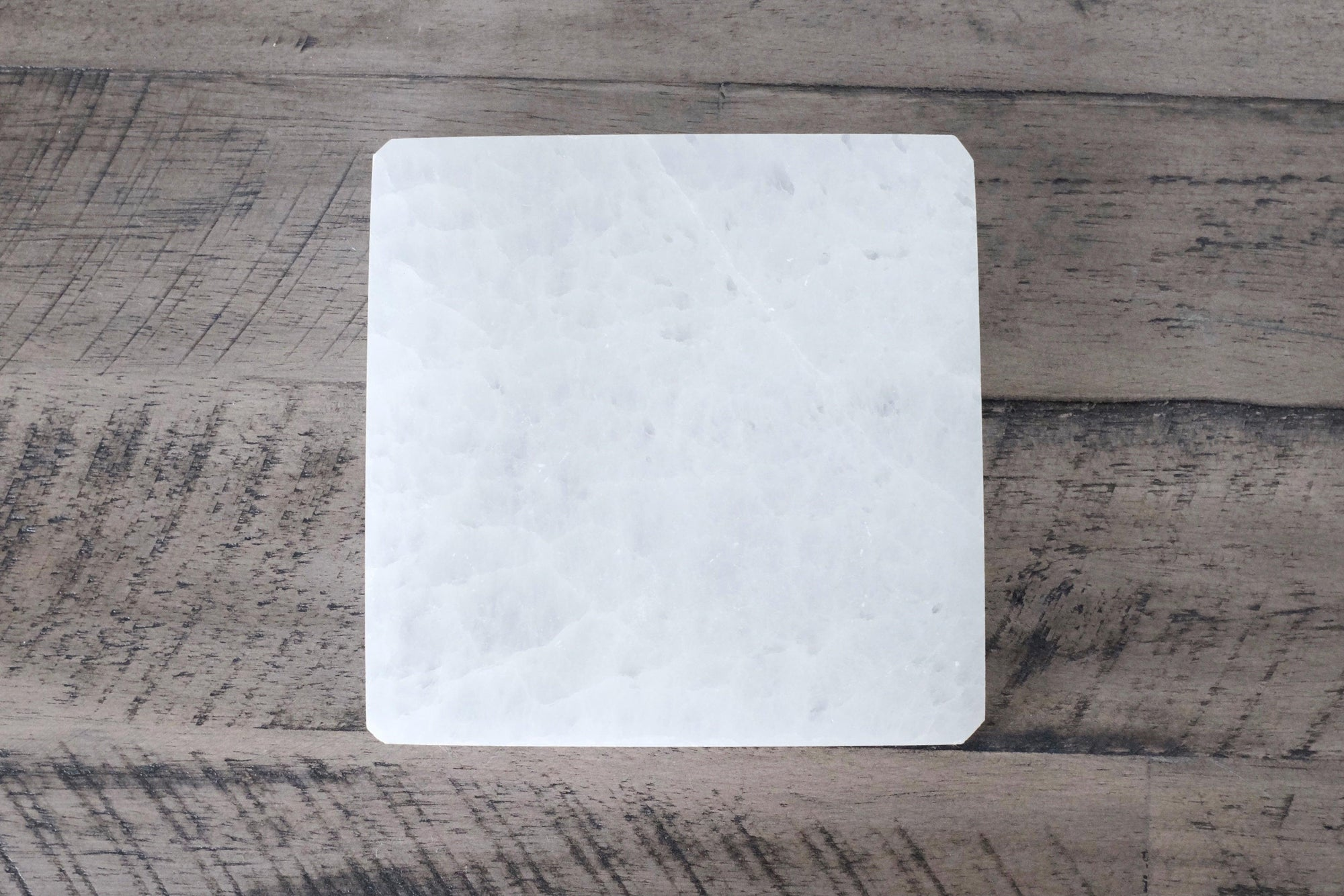 Selenite Square Pedestal
