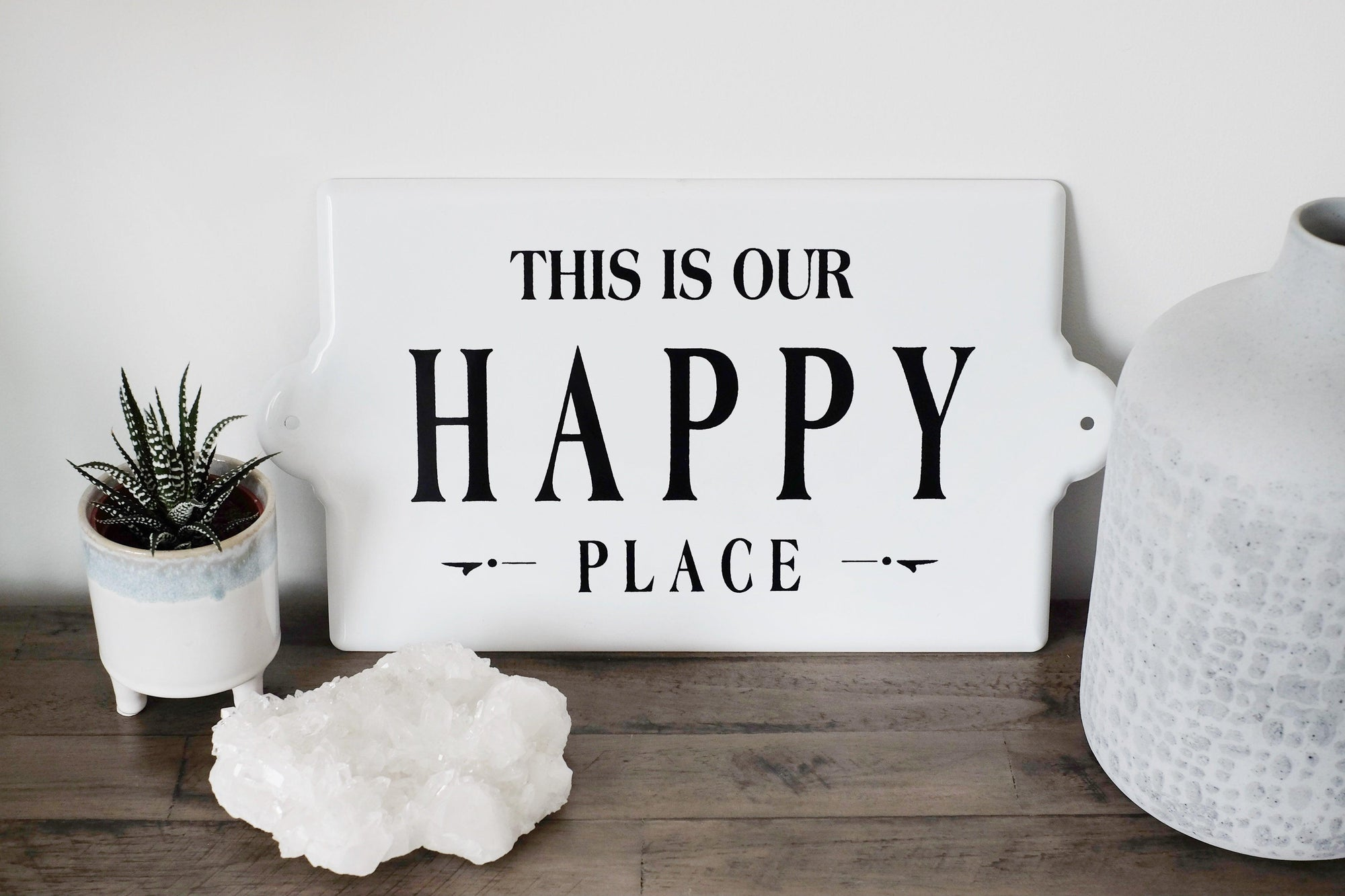 Large Happy Place Sign