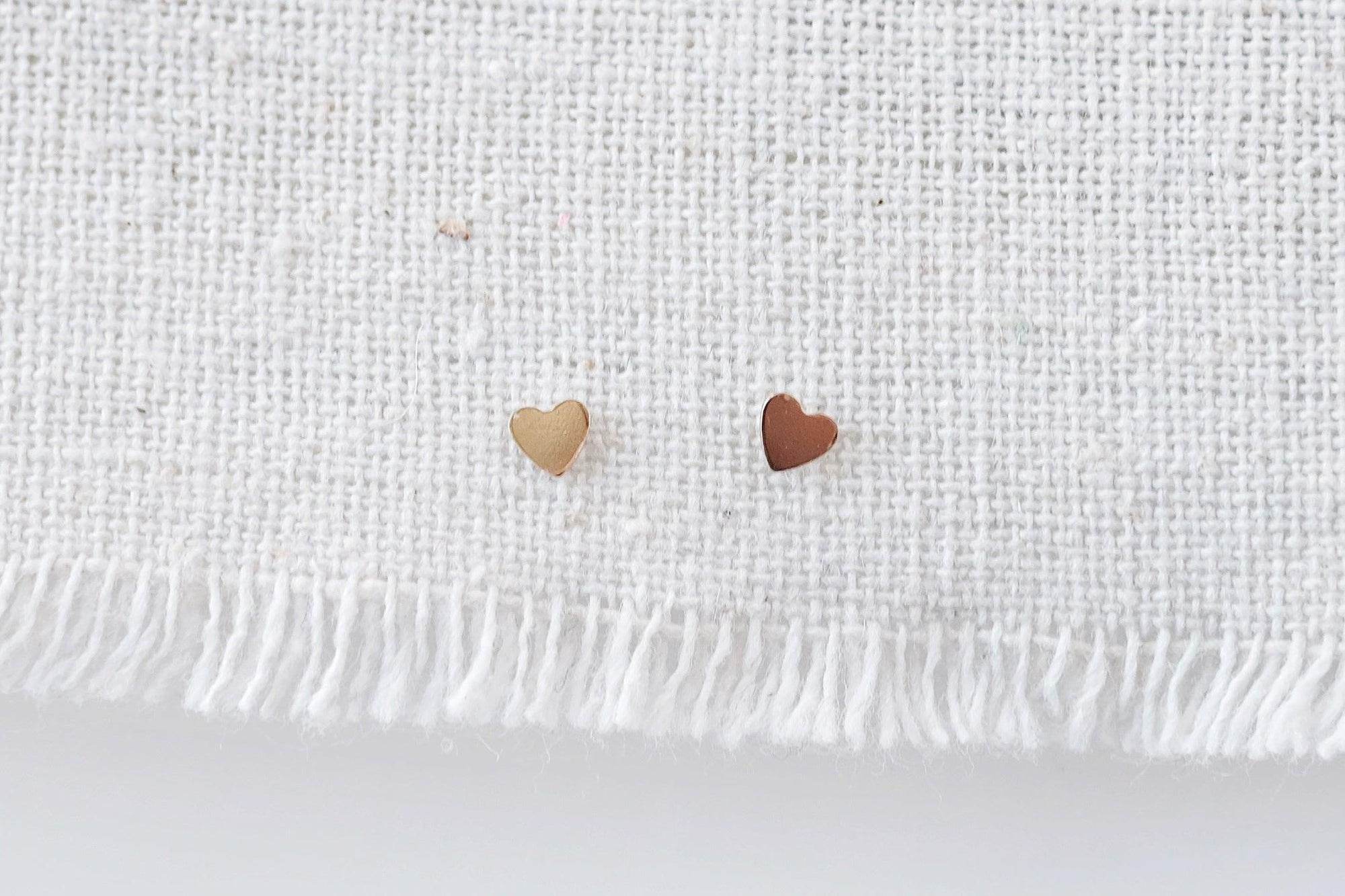 Gold Filled Tiny Heart Studs