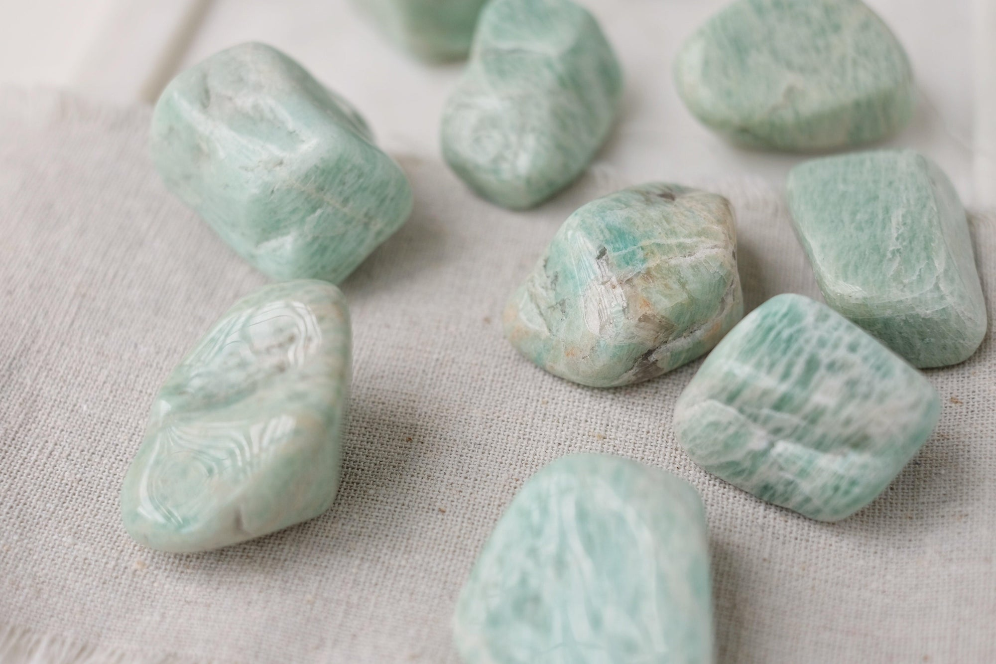 Two Necklaces Amazonite Together Tumbles