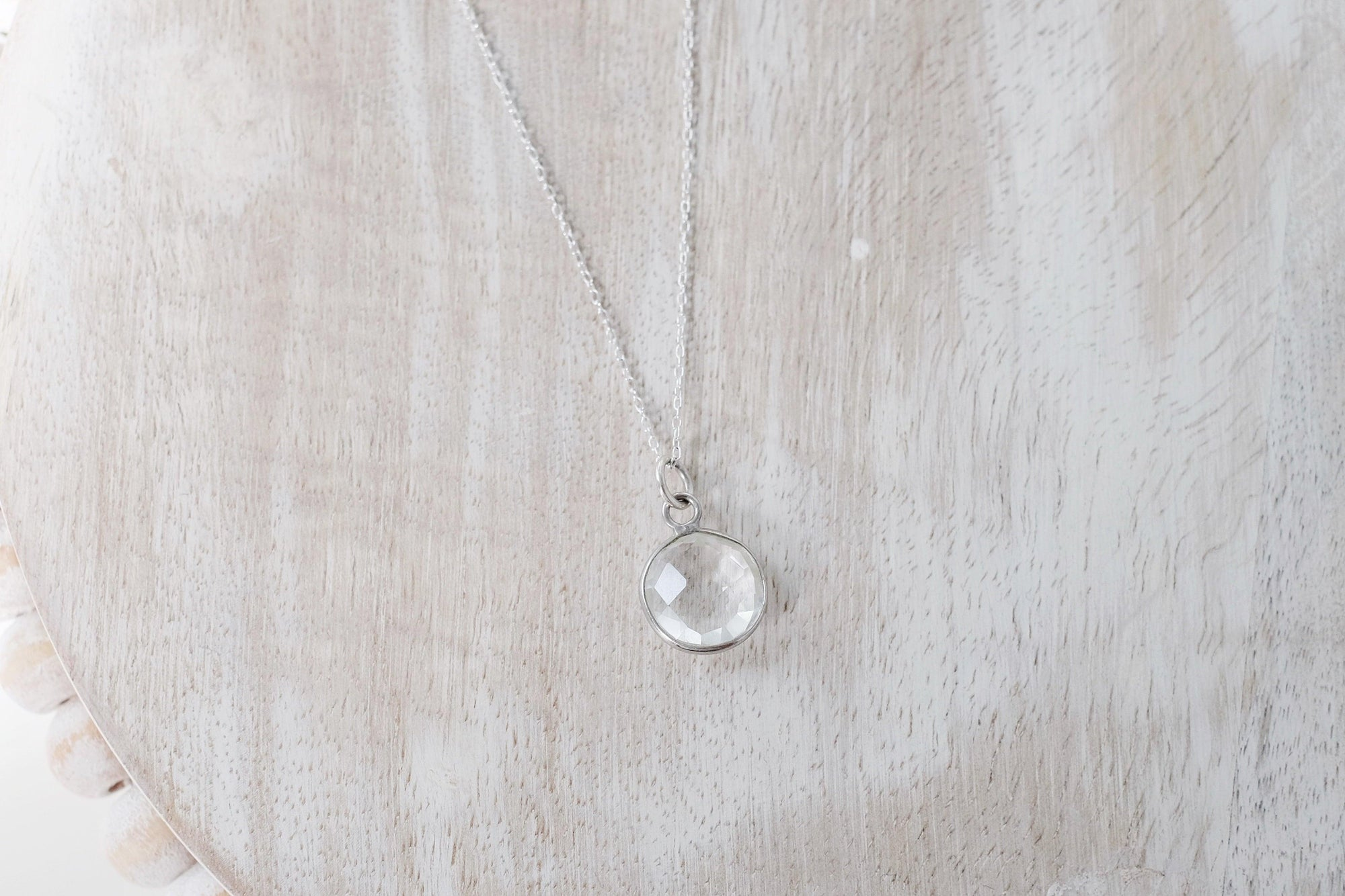 Clear Quartz Drop Necklace
