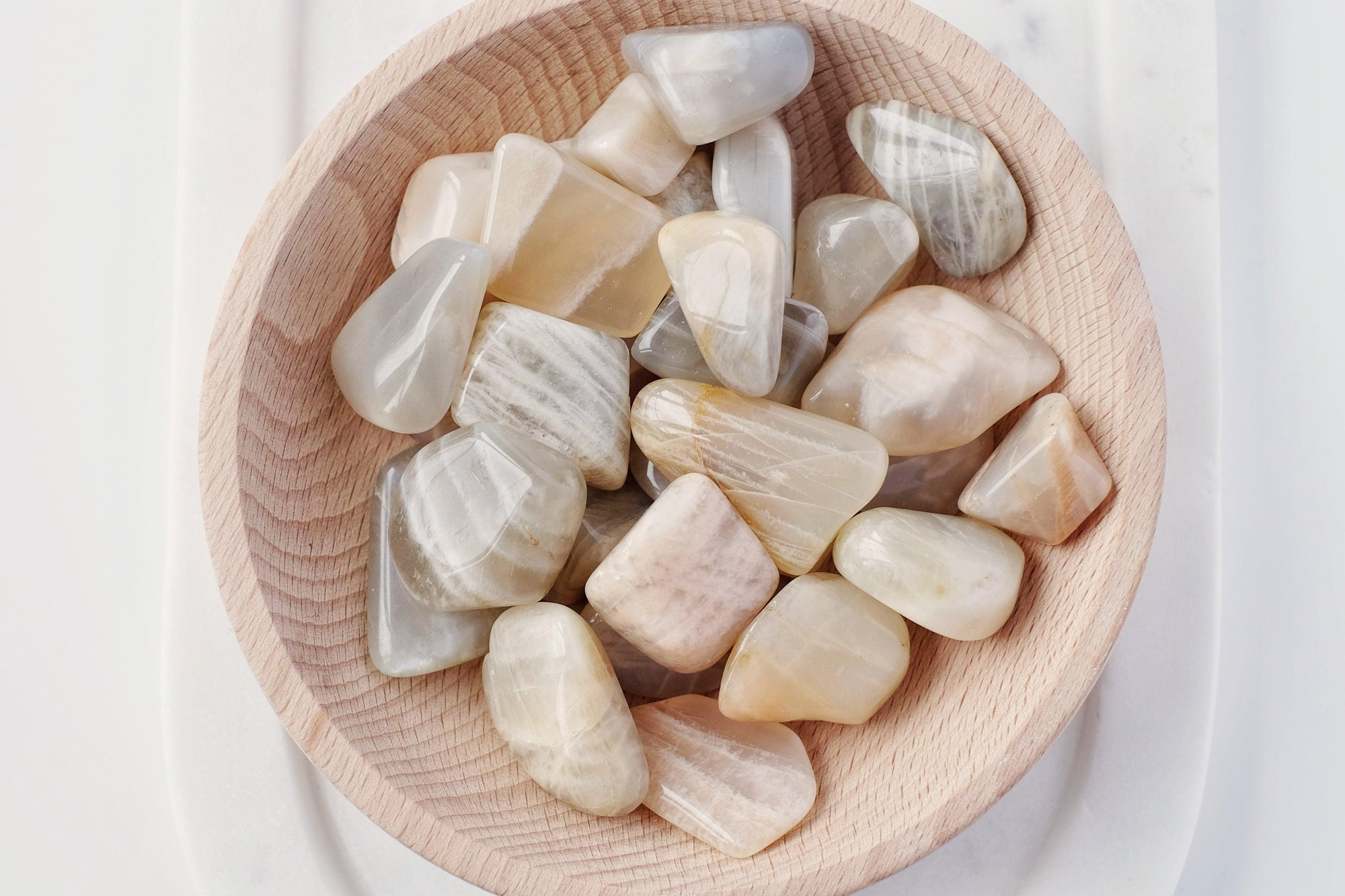 White (Cream) Moonstone Tumbled Stone
