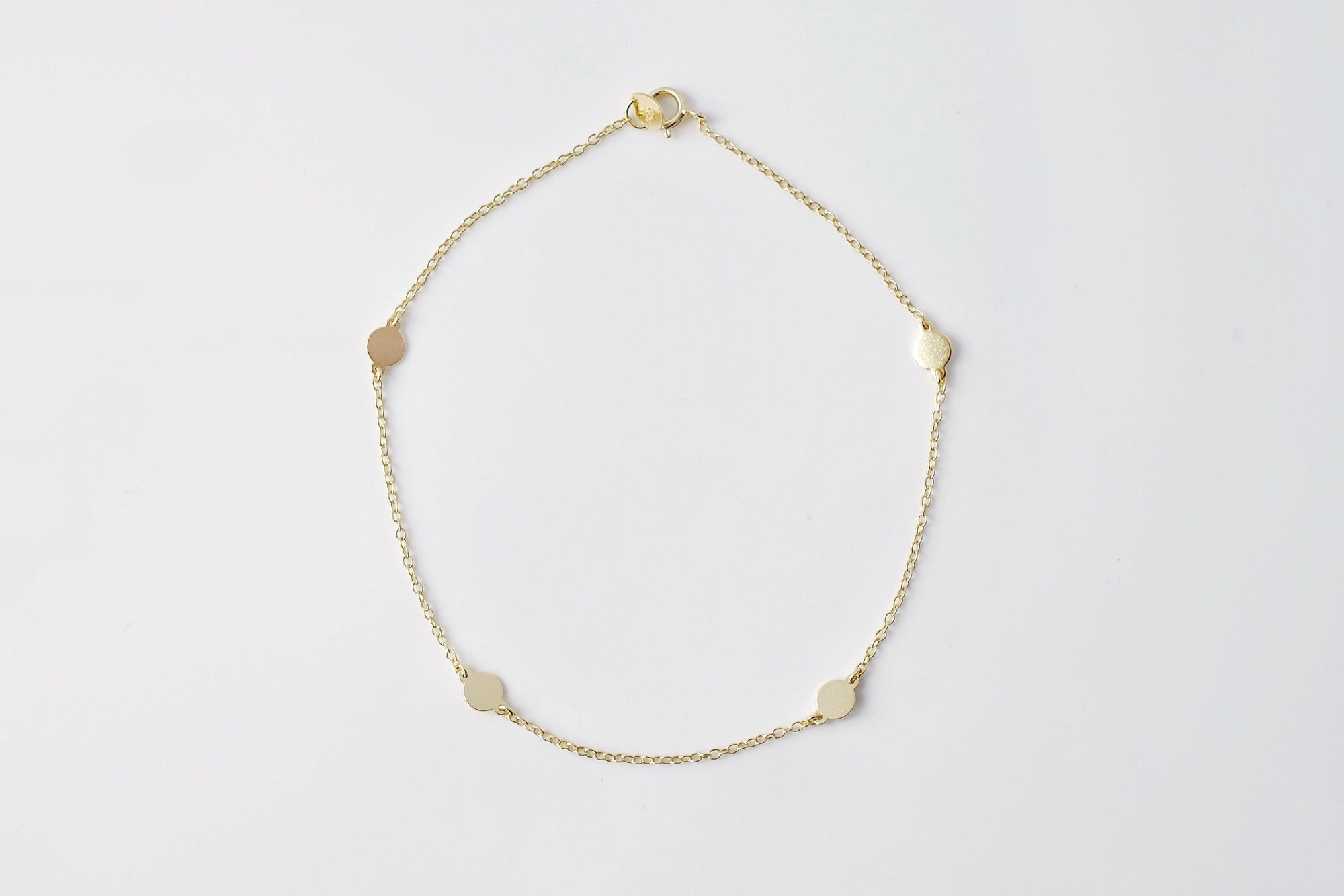 Gold Polka Dot Chain Anklet