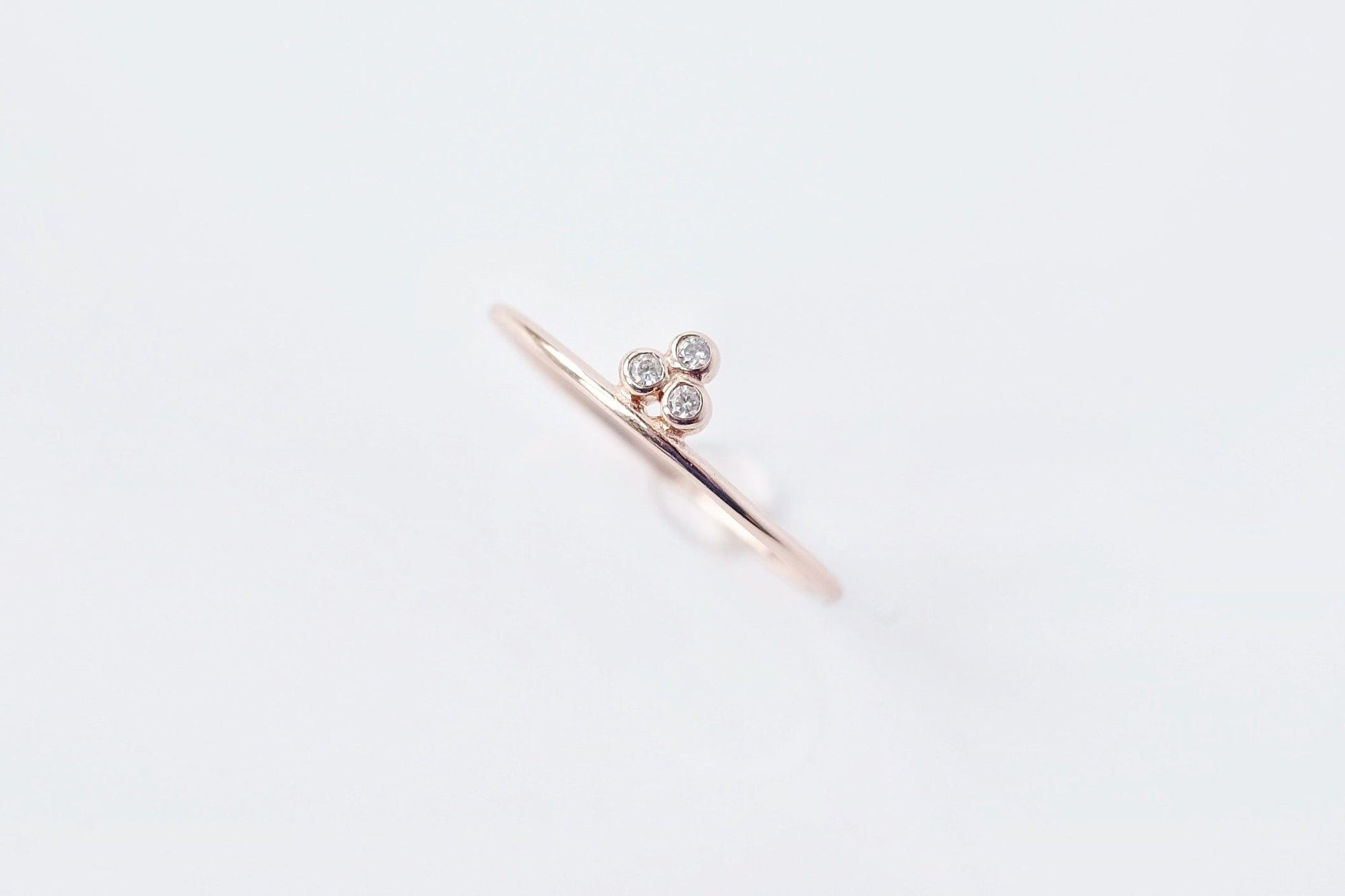 Amie Tripod Ring Rose Gold