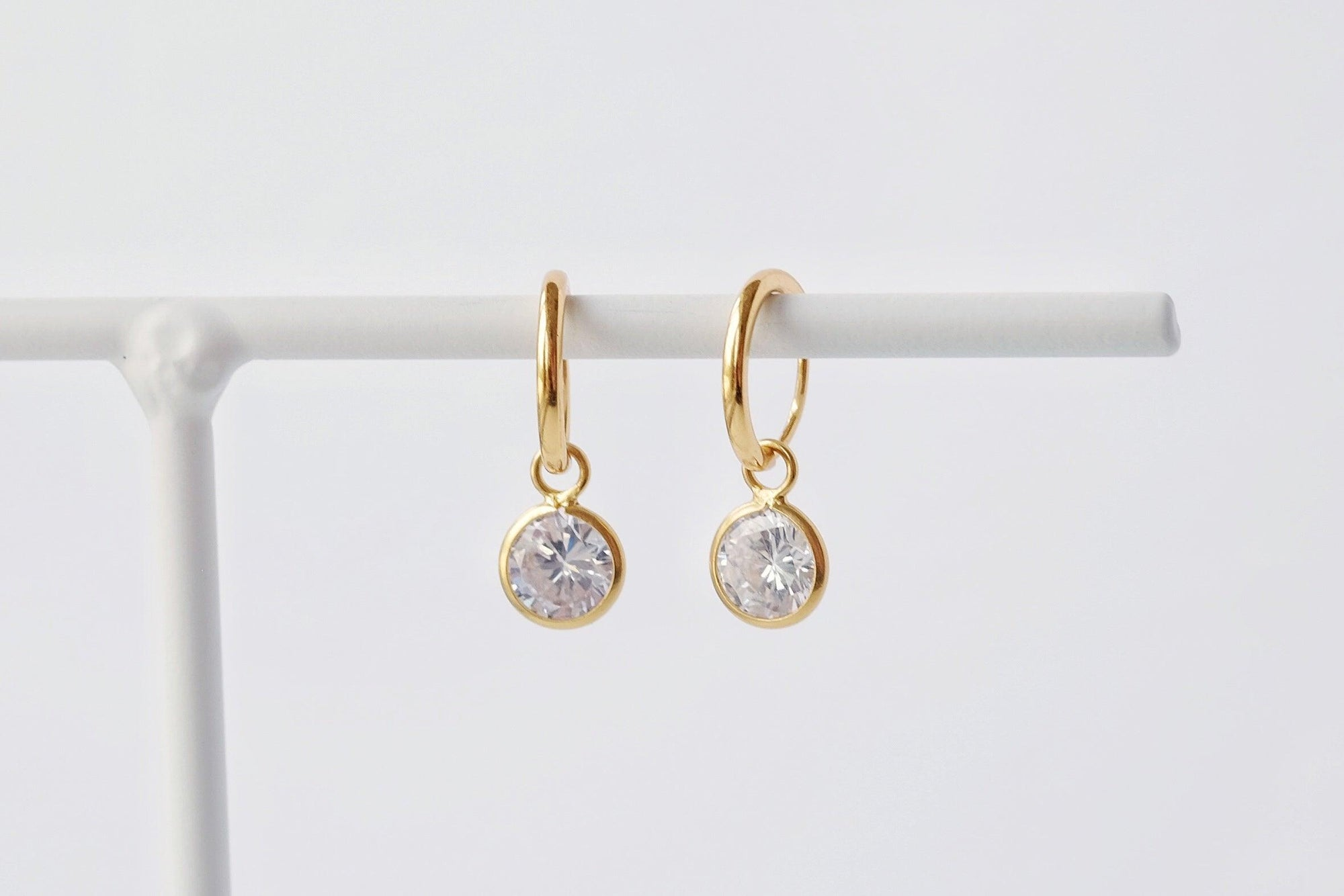 Gold Sparkle Drop Earrings