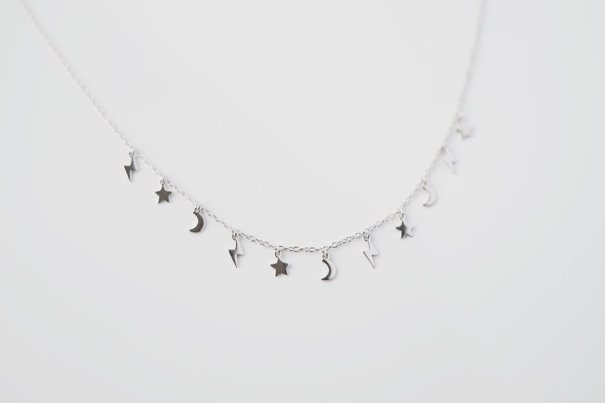 Silver Star and Moon Choker