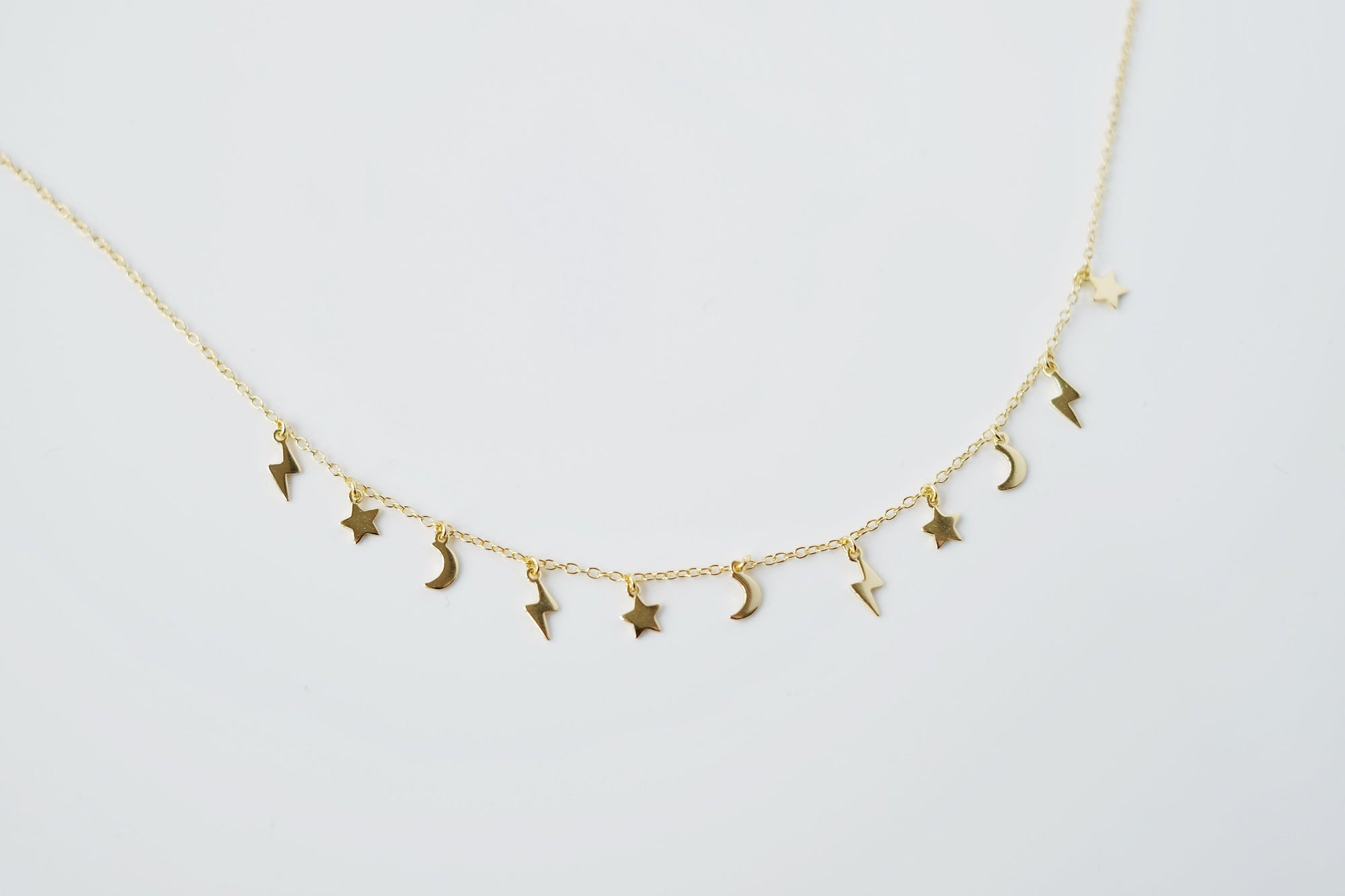 Gold Star and Moon Choker