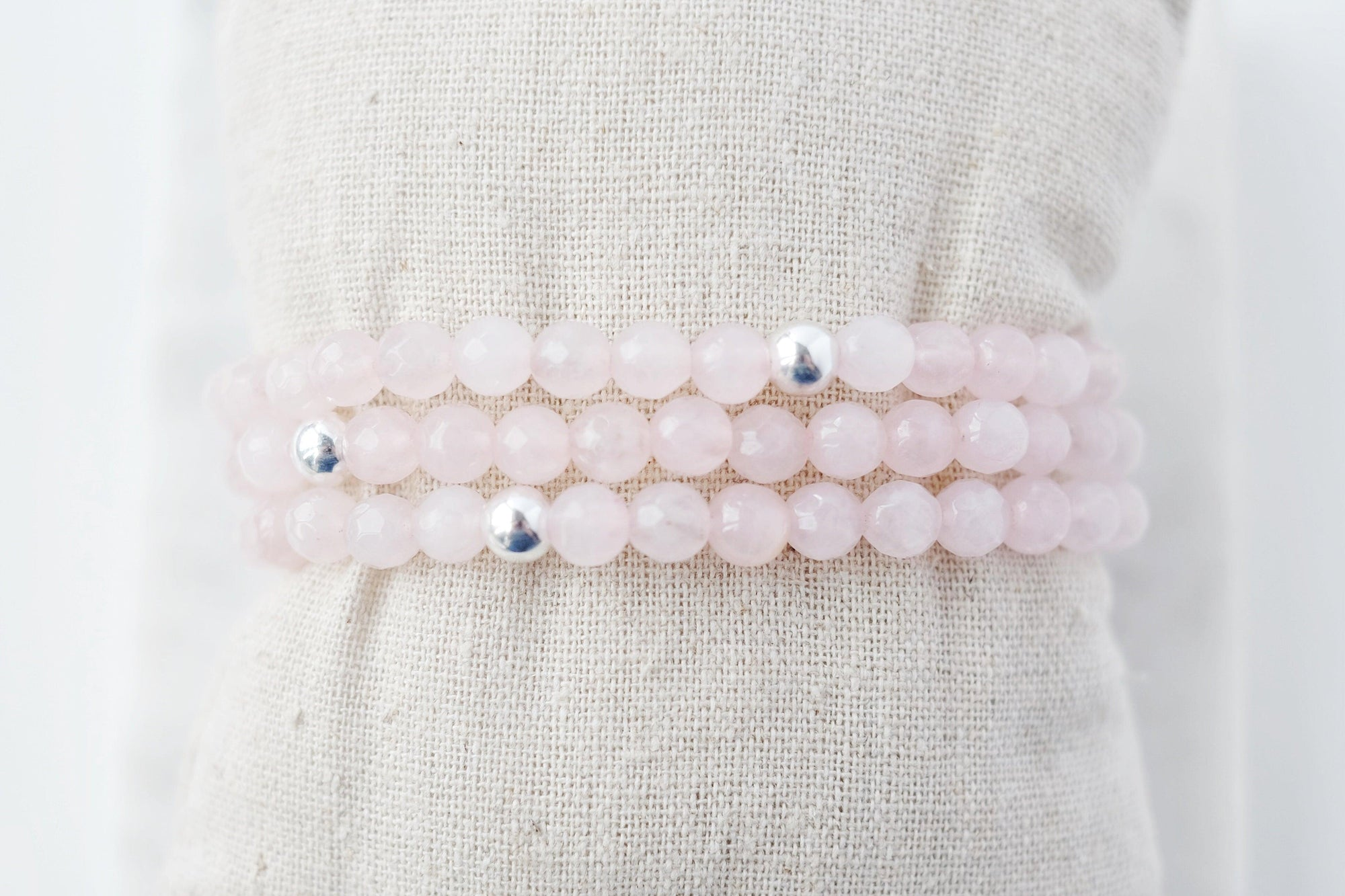 Light Rose Quartz Bracelet