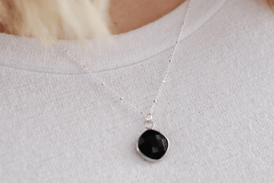M Onyx Drop Necklace
