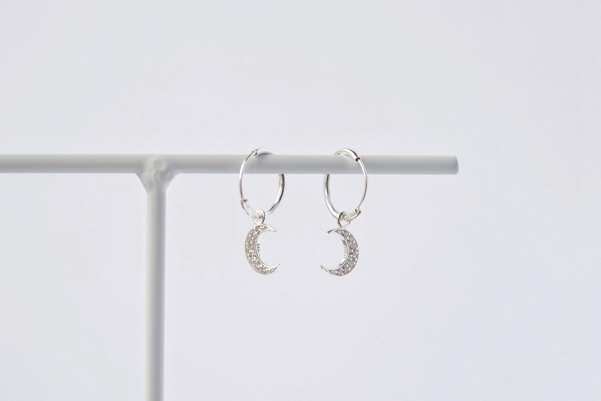 Sparkle Moon Drop Earrings