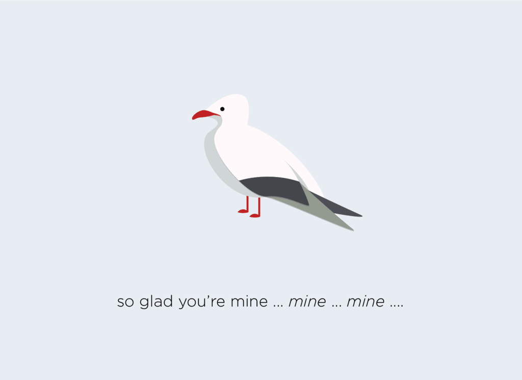 So glad you're mine... mine... mine... Card