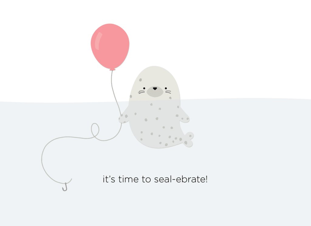It's time to seal-ebrate card