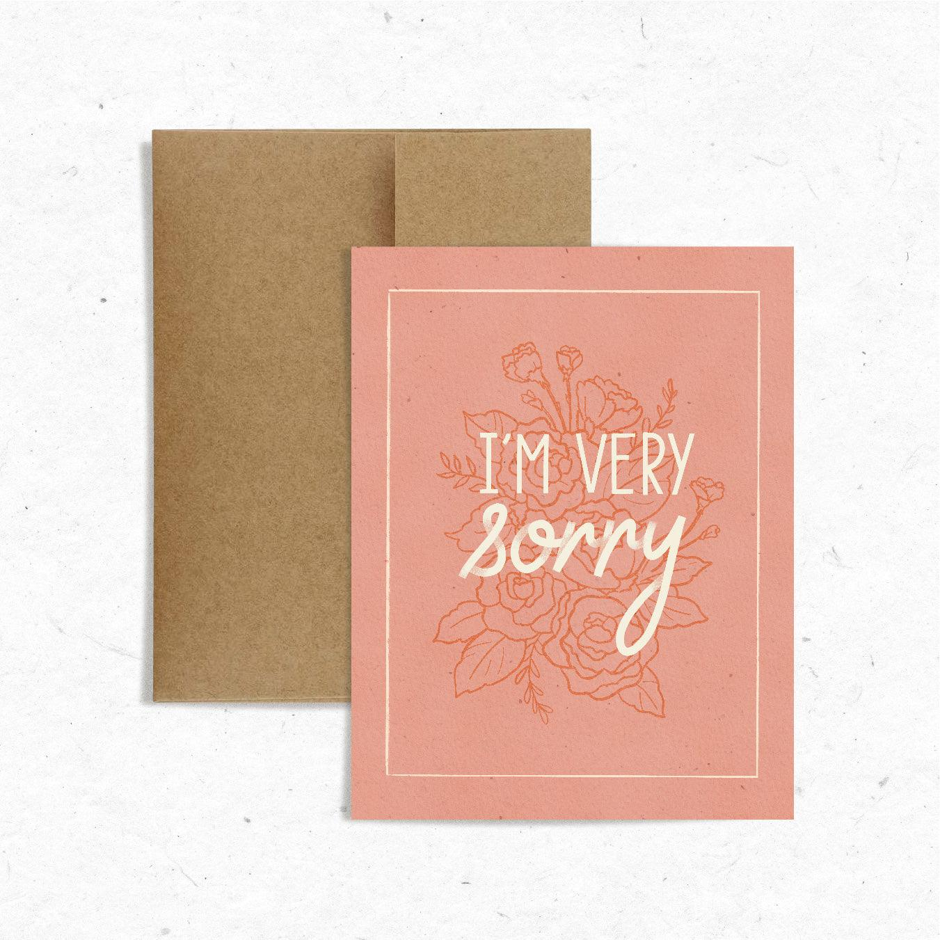 Very Sorry Card