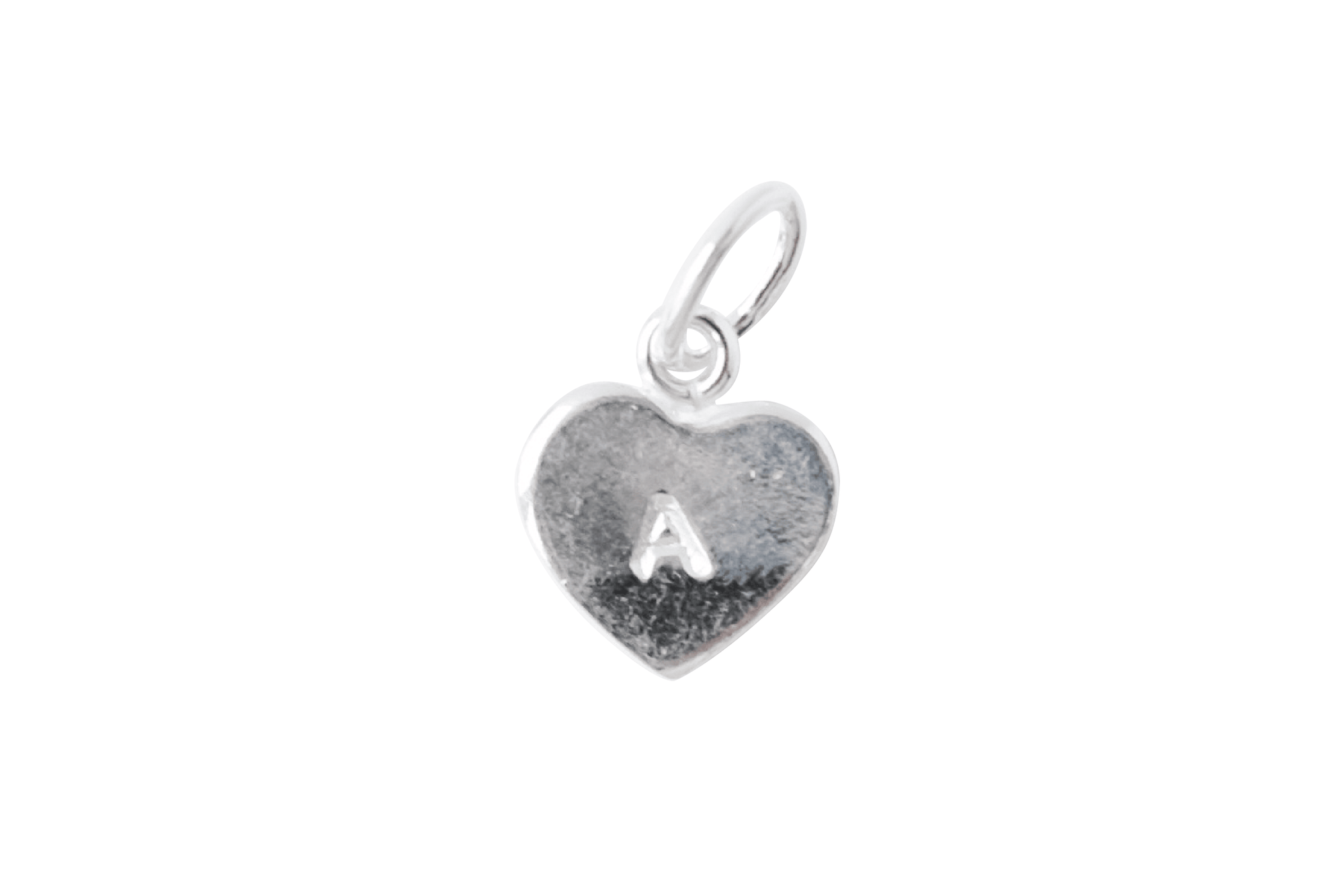Customizable Stamped Tiny Heart Charm
