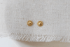 Gold Deco Dot Earrings