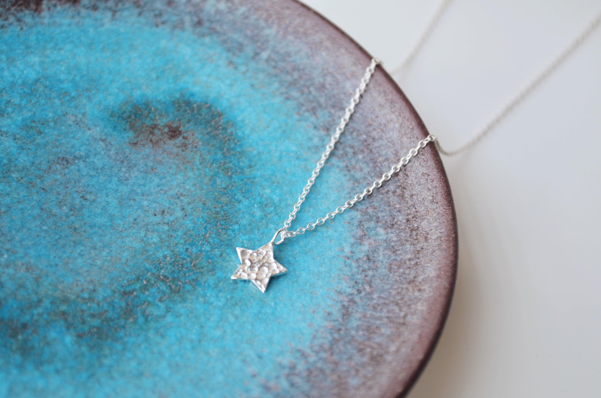 Hammered Star Necklace