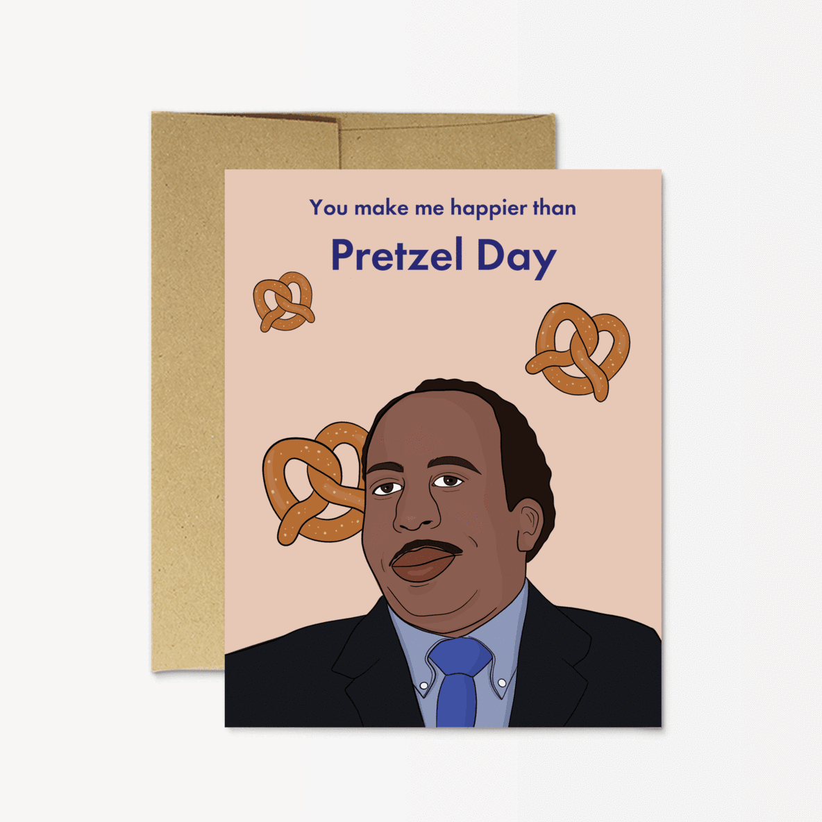 Stanley 'Love you more than pretzel day' Card