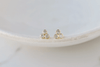 Gold Crystal Tripod Earrings