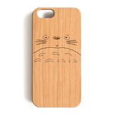 Wood Case, My Neighbor Totoro Wood-Pattern Case For iPhone 6 7 Case 4.7'' iPhone 6 7 Plus Case 5.5''