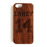 Wood Case, Lahey 14 Lacrosse Teen Wolf Jersey Wood-Pattern Case For iPhone 6 7 Case 4.7'' iPhone 6 7 Plus Case 5.5''