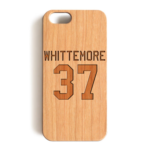 Wood Case, Whittemore 37 Lacrosse Teen Wolf Jersey Wood-Pattern Case For iPhone 6 7 Case 4.7'' iPhone 6 7 Plus Case 5.5''