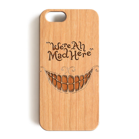 Wood Case, We're Ah Mad Here Wood-Pattern Case For iPhone 6 7 Case 4.7'' iPhone 6 7 Plus Case 5.5''