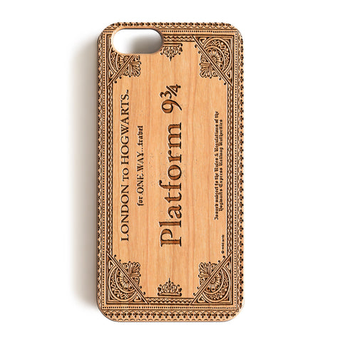 Wood Case, Harry Potter London To Hogwarts Ticket Platform 9 & 3/4 Wood-Pattern Case For iPhone 6 7 Case 4.7'' iPhone 6 7 Plus Case 5.5''