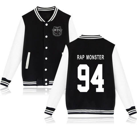 KPOP Bangtan Boys BTS RAP MONSTER 94 Baseball Jacket Coat