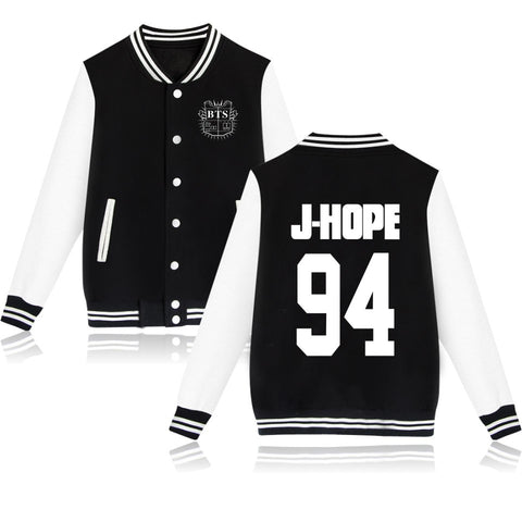 KPOP Bangtan Boys BTS J-HOPE 94 Baseball Jacket Coat