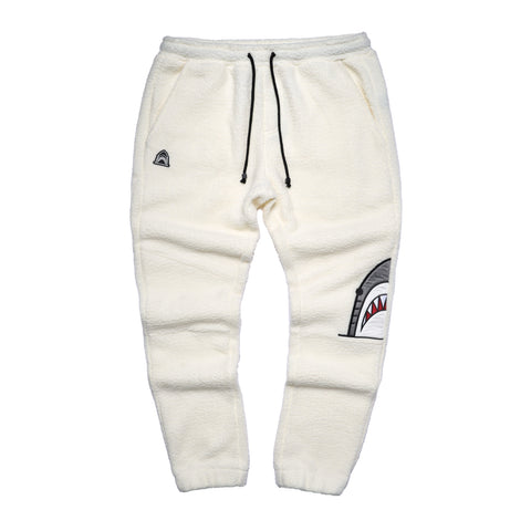 """Moto"" Off-White Sherpa Pants"