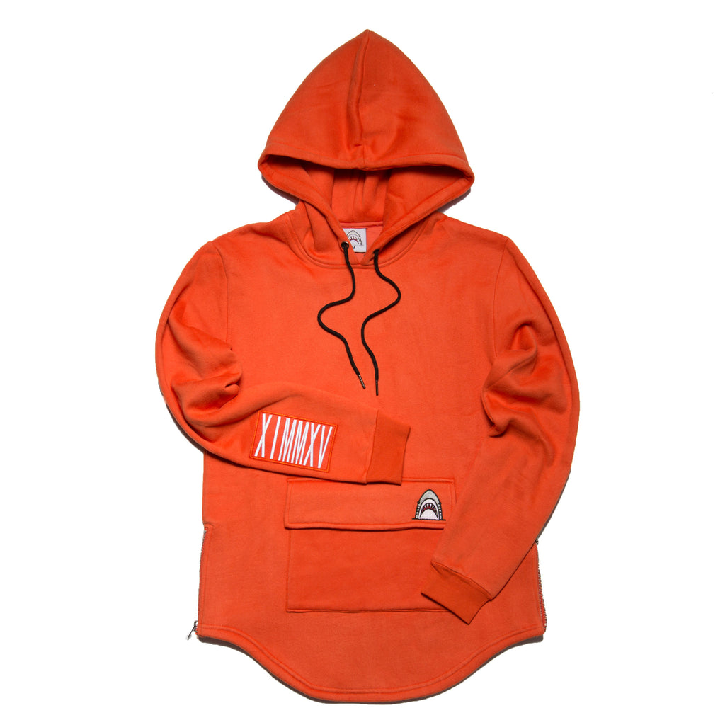 """Big Pocket"" Orange Cozy Hoodie"