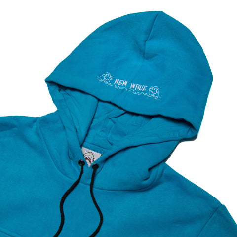 """New Wave"" Baby/Aqua Blue Cozy Hoodie"