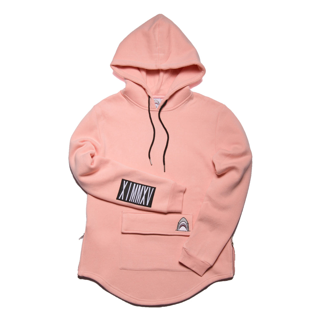 """Big Pocket"" Light Pink Cozy Hoodie"