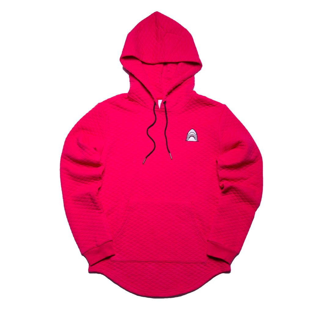 """Quilted Scoop"" Infrared Cut & Sewn Hoodie"