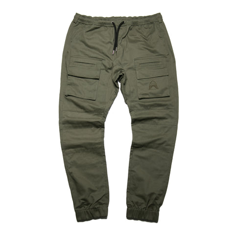 """Utility"" Olive Green Slim Joggers"