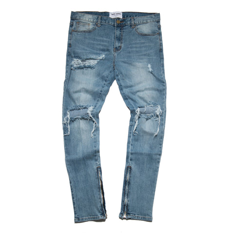 """Destroyed Essential"" Blue Skinny Denim"
