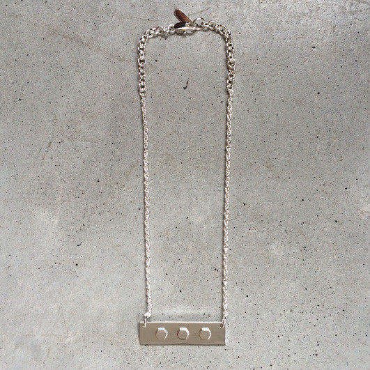 sterling silver short stud necklace