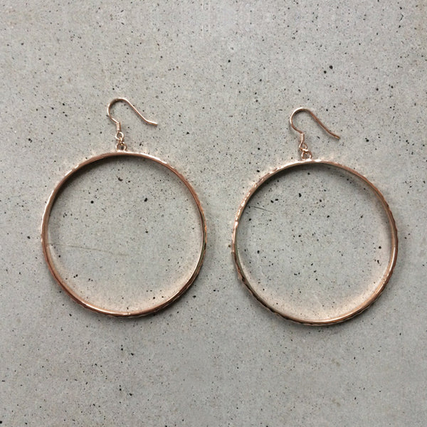 large rose gold loop earrings