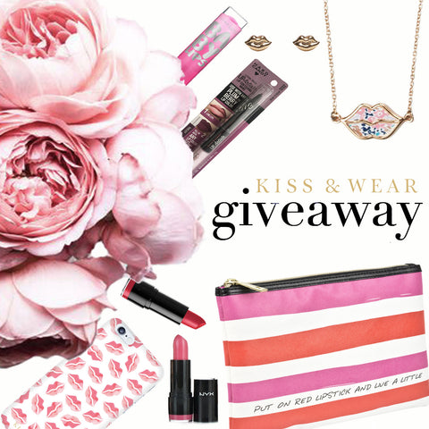 kiss & wear galentine giveaway