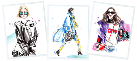 fashion illustration collage
