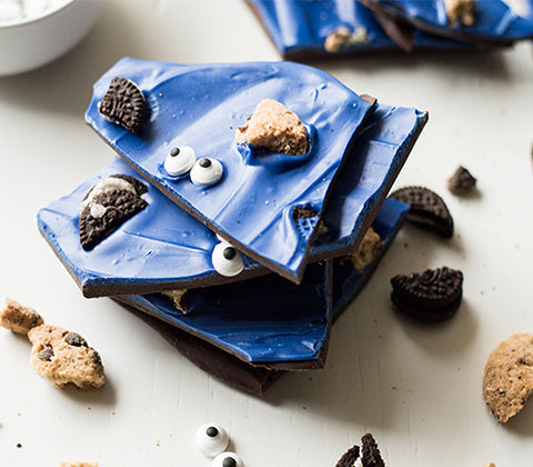 cookie monster bark recipe